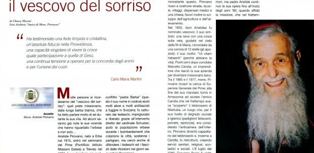 """Padre Aristide su """"Como & dintorni"""""""
